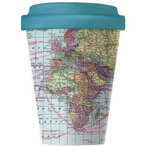 Travel mug world map leaf petal travel mug world map gumiabroncs Choice Image